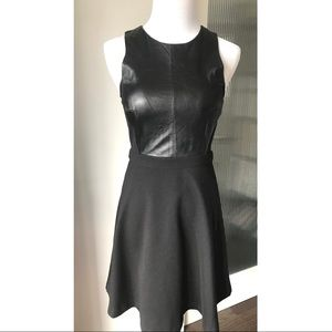 Club Monaco leather front dress